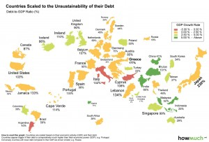 world-map-of-debt